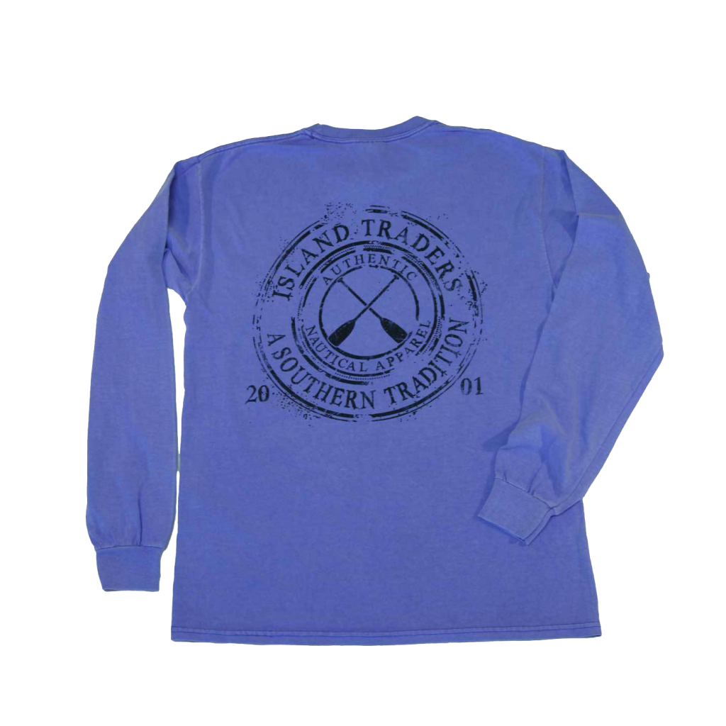 Coffee Ring Paddle Periwinkle Back LS