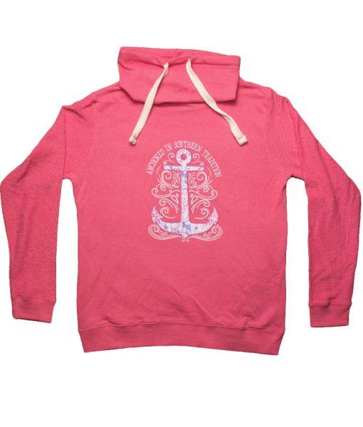 BonnieAnchorSweatshirt-LS-Coral-FRONT