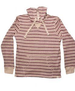 StripedFrenchTerryHoodie-LS-BurgundyCream-FRONT