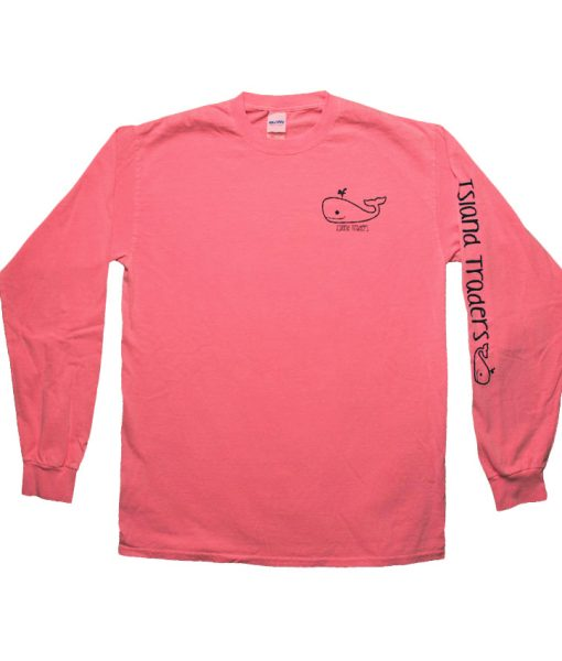 WishListWhale-LS-NeonCoral-FRONT