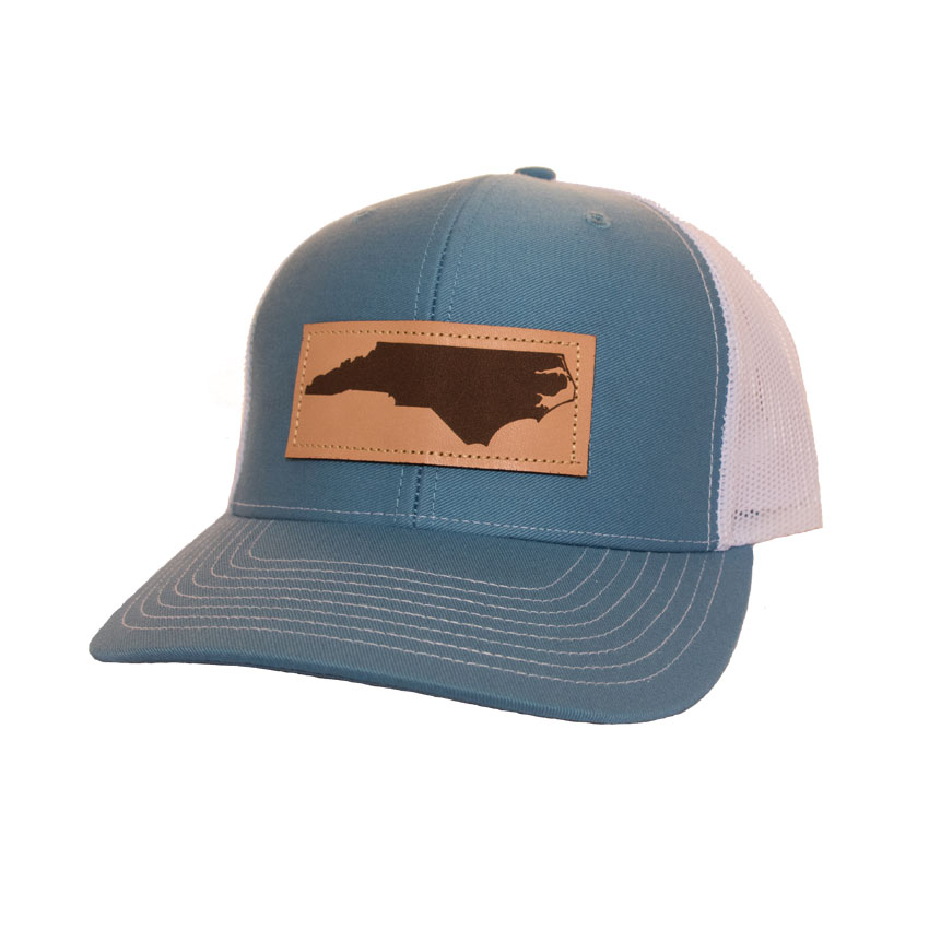 243cdc729 Trucker Hat NC Leather Patch