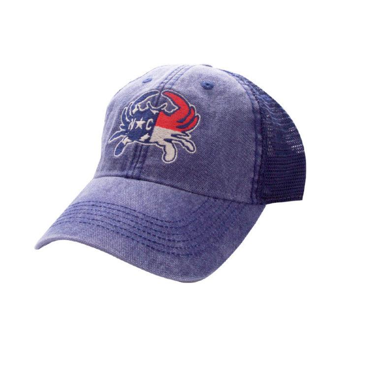 HAT-TruckerNCCrabFlag-NavyNavy