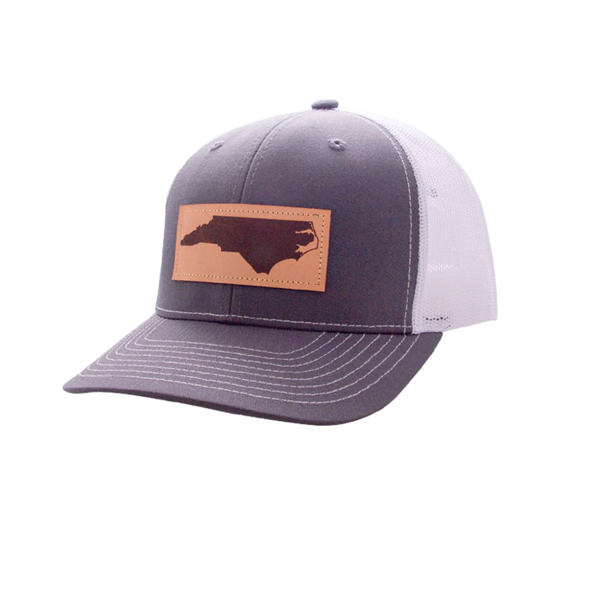 c1a3b5f9f Trucker Hat NC Leather Patch