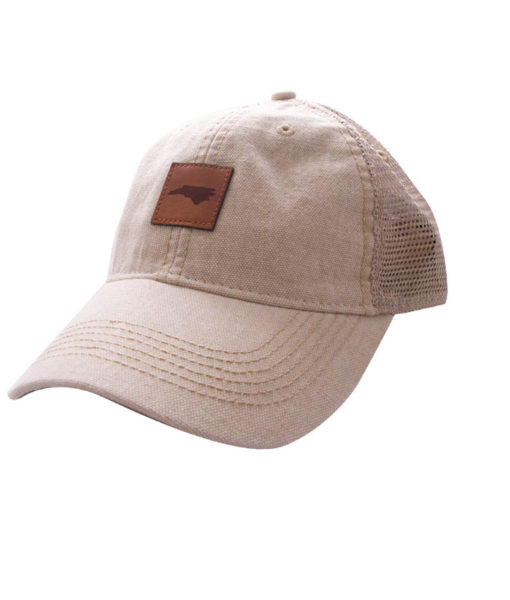 HAT-TruckerNCLeatherPatch-Stone