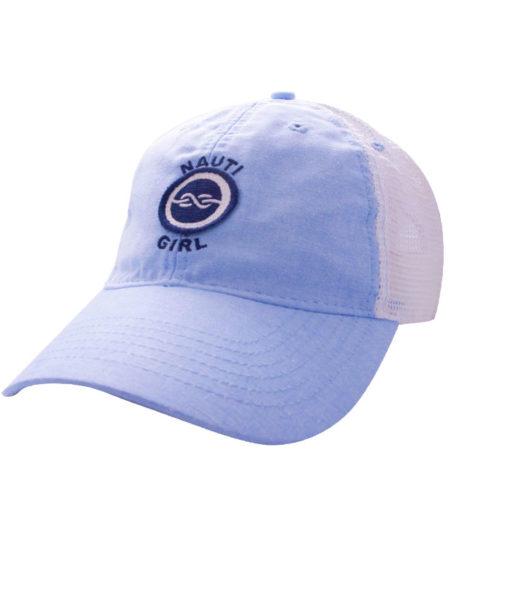 HAT-TruckerOxfordNautiGirl-LtBlueOxford