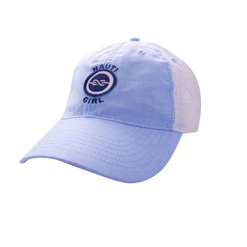 7275b2e8291 Trucker Hat Oxford Nauti Girl    Island Traders
