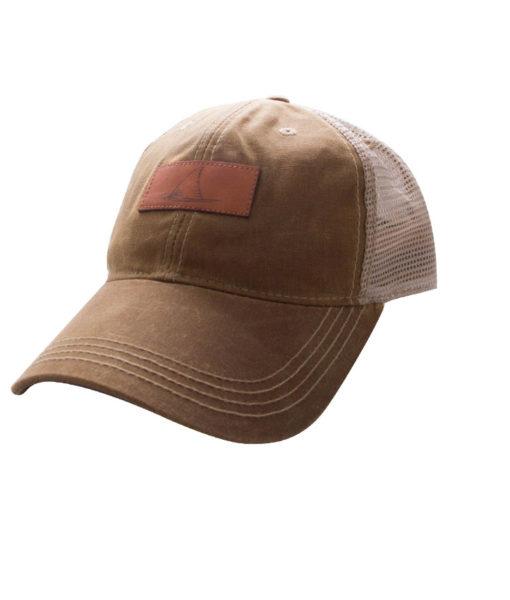 Hat-RedfishWaxLeatherPatch-TanKhaki