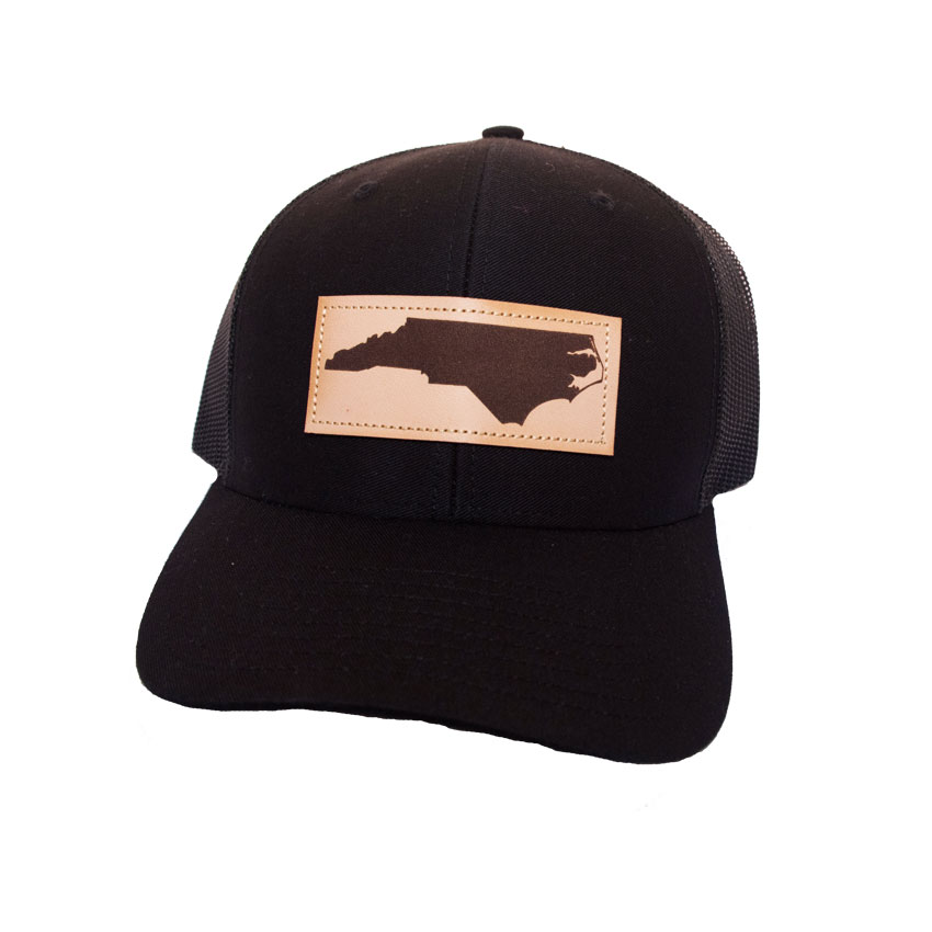 aaf8781bad4 Trucker Hat NC Leather Patch    Island Traders